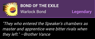 Bond of the Exile