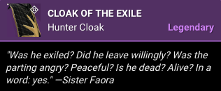 Cloack of the Exile