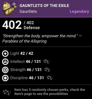 Gauntlets of the Exile