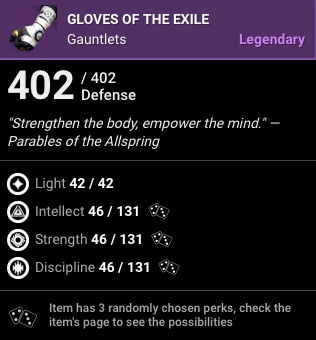 Gloves of the Exile
