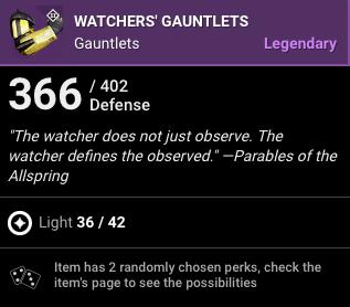 Watchers Gauntlets