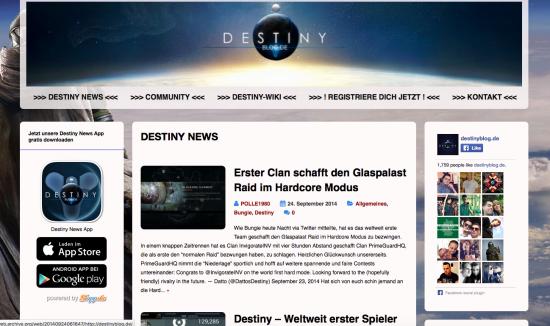"""24.9.2014 - Kurz nach dem Release von """"Destiny"""""""