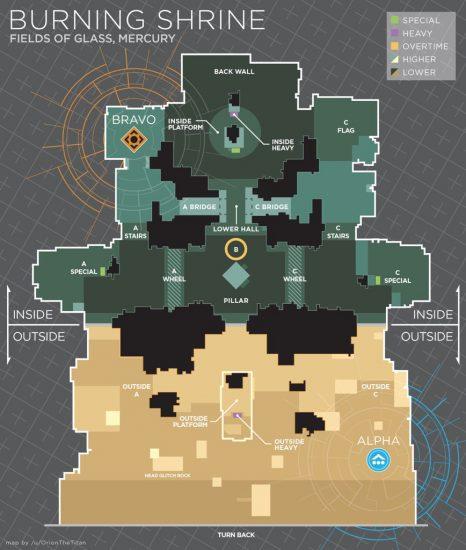Osiris Map Brennender Schrein