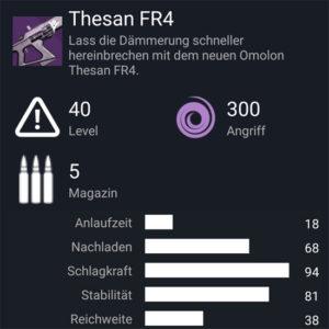Waffentag-Lieferung Fusionsgewehr Omolon Thesan FR4