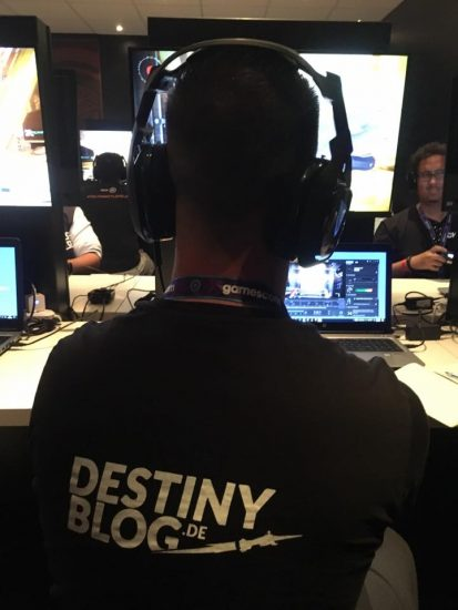 Das Destinyblog-Team in Aktion auf der GamesCom 2016