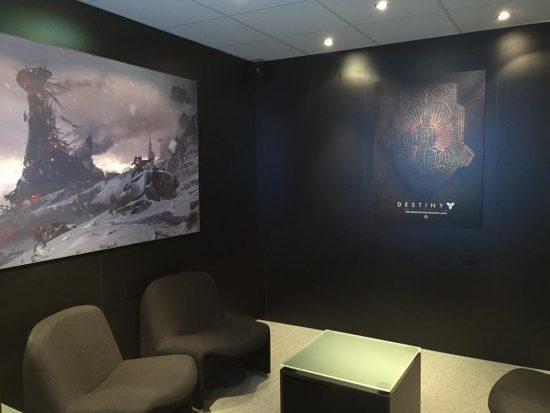 Der Interview-Raum auf der Gamescom in dem das Interview mit Deej geführt wurde.