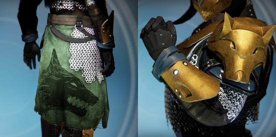 Titan Eisenbanner Klassenabzeichen und Handschuhe