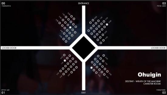 Die weißen Punkte zeigen die einzunehmenden Positionen der Hüter.