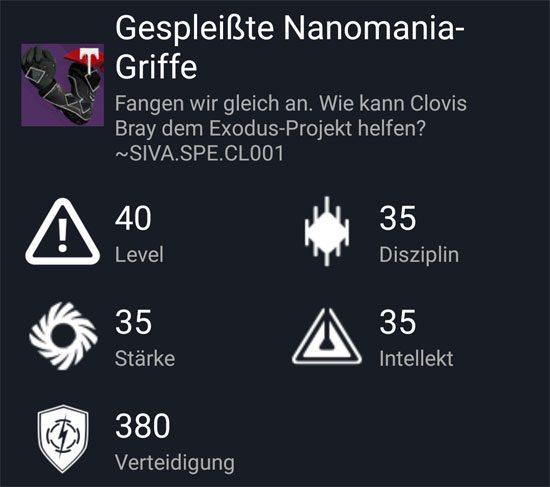 """Gespleißte Nanomania-Griffe"" aus dem Hard-Raid"