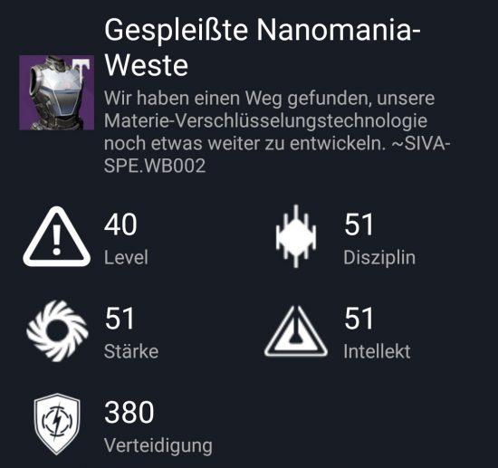 """""""Gespleiße Nanomanie-Weste"""" aus dem Hard-Raid"""