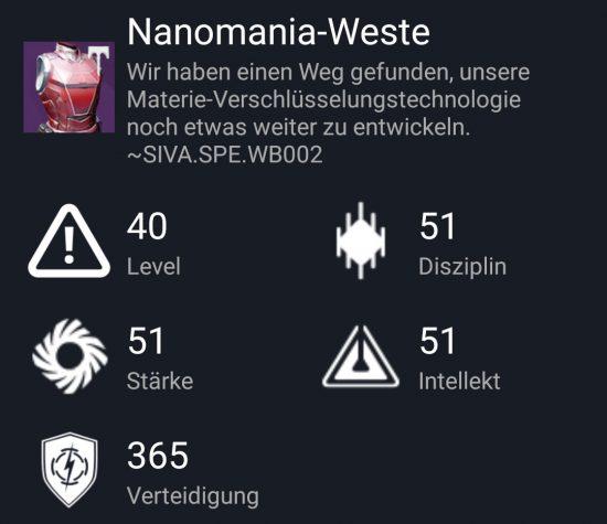 """""""Nanomania-Weste"""" aus dem Norma-Raid"""