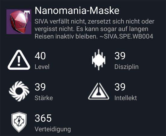 """""""Nanomania-Maske"""" aus dem Normal-Raid"""