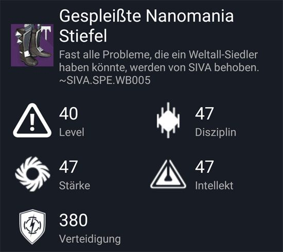 """Gespleißte Nanomania-Stiefel"" aus dem Hard-Raid"