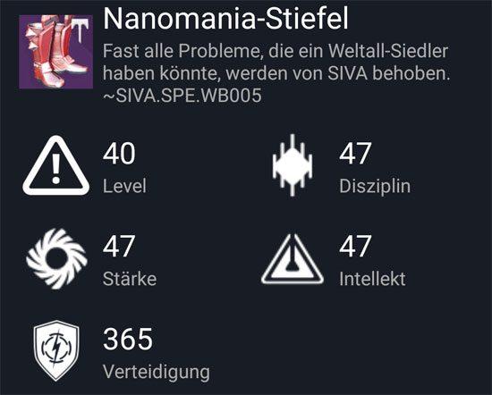 """Nanomania-Stiefel"" aus dem Normal-Raid"