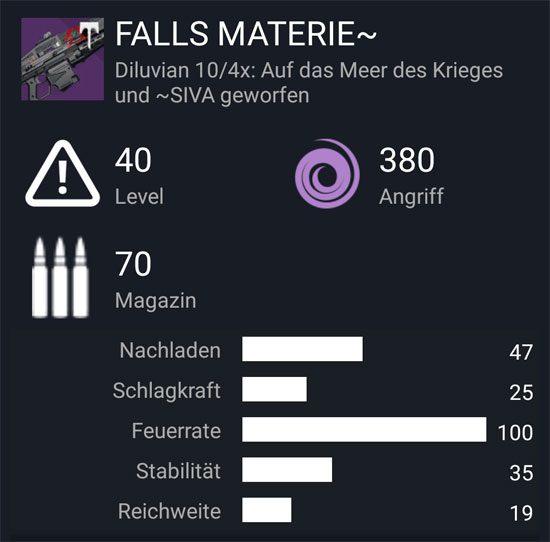 """Das Maschinengewehr """"Falls Materie ~"""""""