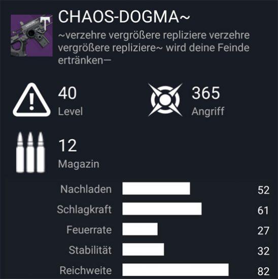 """Das Scout-Gewehr """"Chaos-Dogma -"""""""
