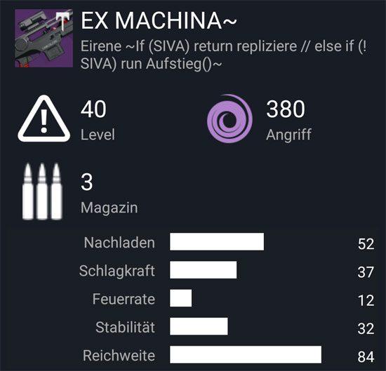 """Das Scharfschützengewehr """"Ex Machina ~"""""""