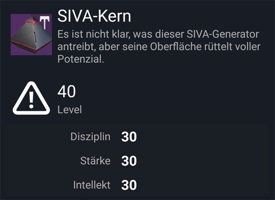 """SIVA-Kern-Artefakt"" aus dem Normal-Raid"