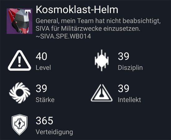 "Der ""Kosmoklast-Helm"" aus dem Normal-Raid"