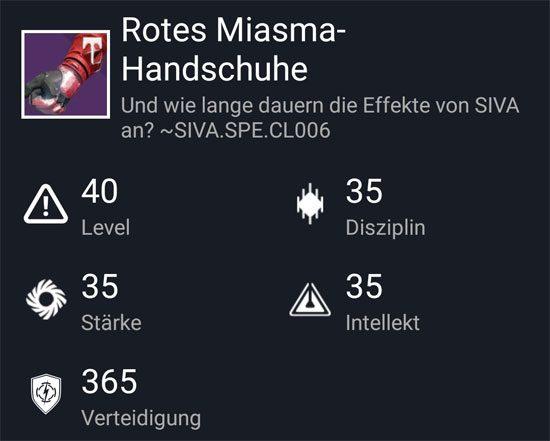 """""""Rotes-Miasma Handschuhe"""" aus dem Normal-Raid"""
