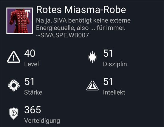 """Rotes-Miasma Robe"" aus dem Normal-Raid"