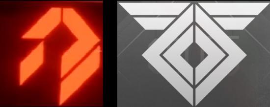 Das SIVA-Symbol und das Rasputin-Sigel im Vergleich.
