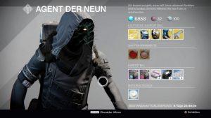 Xur – Agent der Neun: Standort und Inventar (23.09.2016 – 25.09.2016)