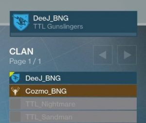 Clan-Übersicht