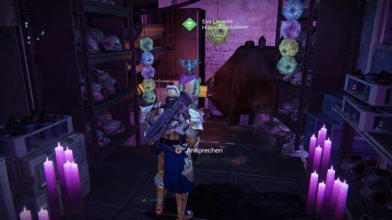 Die Süßigkeiten-Jagd beginnt bei Eva Levante im Turm.