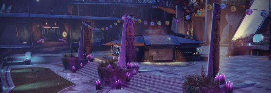 Die hübsche Deko zum Festival der Verlorenen im Turm.