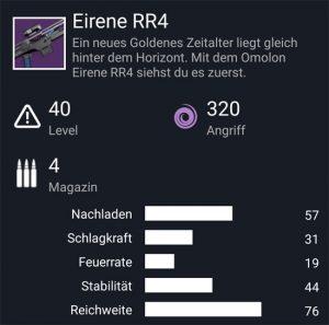 Waffentag-Lieferung Scharfschützengewehr Eirene RR4