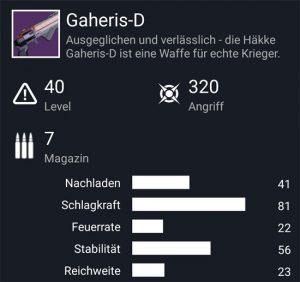 Waffentag-Lieferung Handfeuerwaffe Gaheris-D