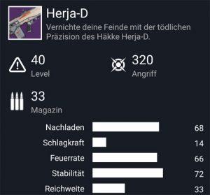 Waffentag-Lieferung Impulsgewehr Herja-D