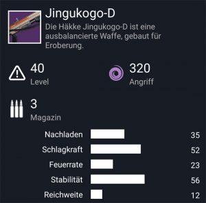 Waffentag-Lieferung Handfeuerwaffe Jingukogo-D