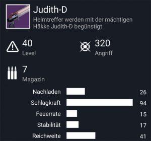 Waffentag-Lieferung Handfeuerwaffe Judith-D