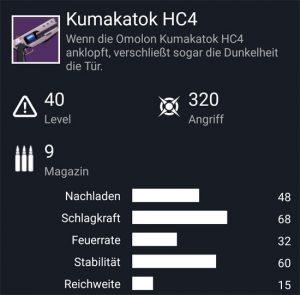 Waffentag-Lieferung Handfeuerwaffe Kumakatok HC4