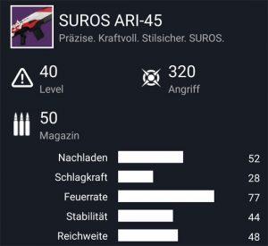 Waffentag-Lieferung Automatikgewehr SUROS ARI-45