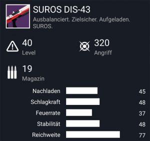 Waffentag-Lieferung Scout-Gewehr SUROS DIS-43
