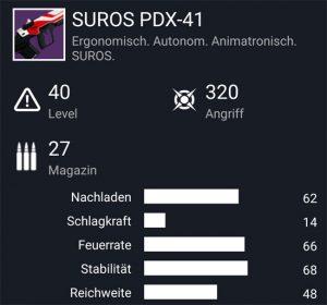 Waffentag-Lieferung Impulsgewehr SUROS PDX-41