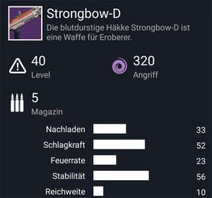 Waffentag-Lieferung Schrotflinte Strongbow-D