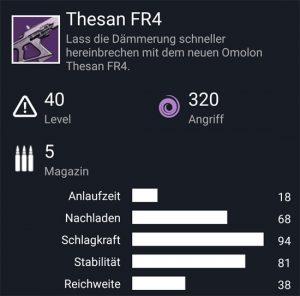 Waffentag-Lieferung Fusionsgewehr Thesan FR4