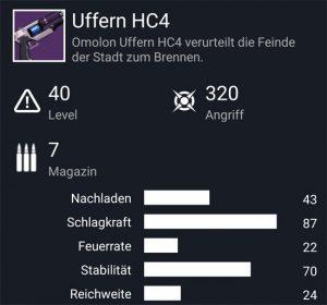 Waffentag-Lieferung Handfeuerwaffe Uffern HC4