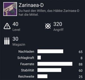 Waffentag-Lieferung Automatikgewehr Zarinaea-D