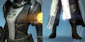 Warlock-Bein und Brustschutz
