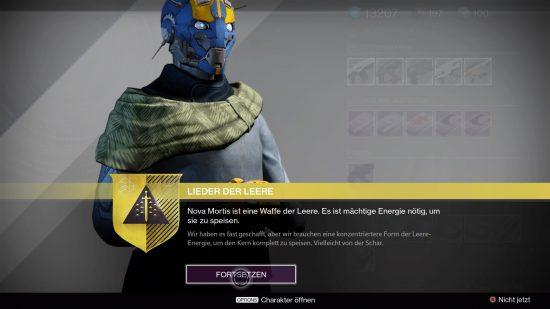 Banshee übergibt den nächsten Suchen-Schritt für Nova Mortis