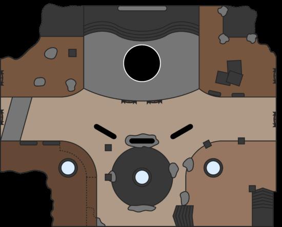 Raid-Guide Königsfall: Karte des Kampfgebietes beim Kriegspriester