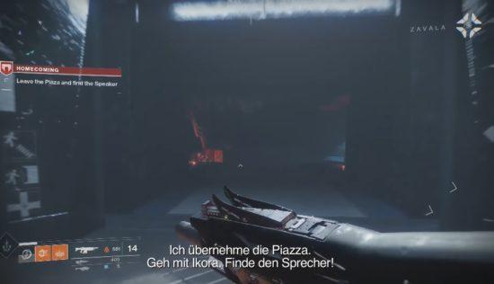 Destiny 2: Wir machen uns auf die Suche nach dem Sprecher.