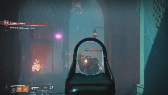 Destiny 2: Wir durchqueren auf dem Weg zu Amanda Holiday die Unterkünfte der Zivilisten im Turm.
