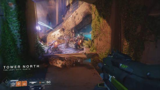 Destiny 2: Die Westseite des Turmes ist völlig zerstört.