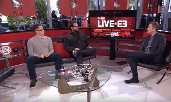 Mark Noseworthy und Luke Smith während eines E3-Interviews